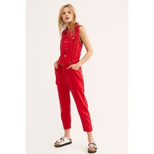 Free People Levi's Tapered Denim Jumpsuit S NWT